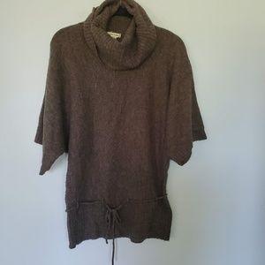 3for$25 brown tie top shirt collard